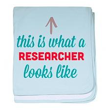 Researcher Looks Like baby blanket
