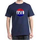 I Like Ike Black T-Shirt