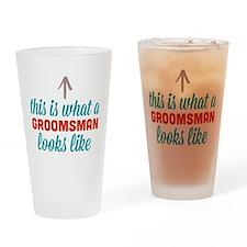 Groomsman Looks Like Drinking Glass