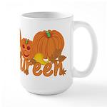 Halloween Pumpkin Maureen Large Mug
