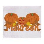 Halloween Pumpkin Maureen Throw Blanket