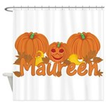 Halloween Pumpkin Maureen Shower Curtain