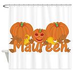Halloween Pumpkin Maureen Shower Curtain