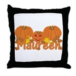 Halloween Pumpkin Maureen Throw Pillow