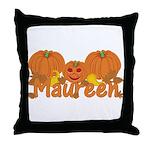 Halloween Pumpkin Maureen Throw Pillow