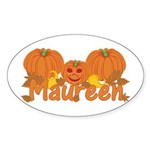 Halloween Pumpkin Maureen Sticker (Oval)
