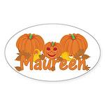 Halloween Pumpkin Maureen Sticker (Oval)