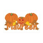 Halloween Pumpkin Maureen 35x21 Wall Decal