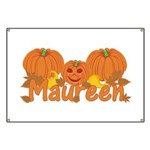 Halloween Pumpkin Maureen Banner
