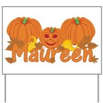 Halloween Pumpkin Maureen Yard Sign