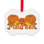 Halloween Pumpkin Maureen Picture Ornament