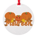 Halloween Pumpkin Maureen Round Ornament
