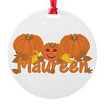 Halloween Pumpkin Maureen Round Ornament