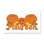 Halloween Pumpkin Maureen Rectangle Car Magnet