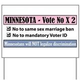 Vote No Minnesota! Yard Sign