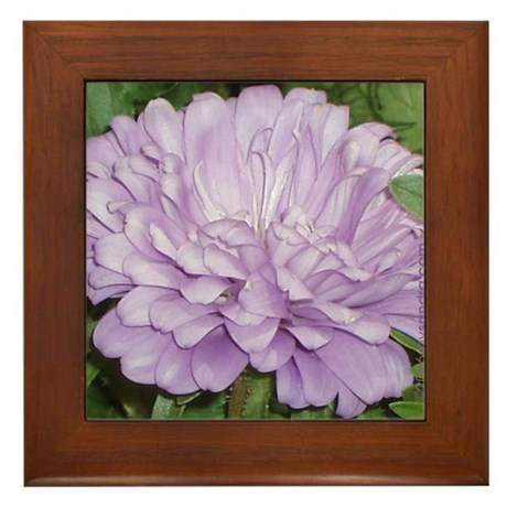 Lavender Flower Framed Tile