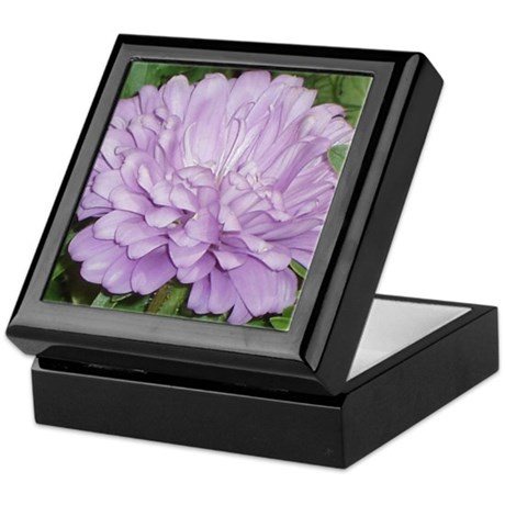 Lavender Flower Keepsake Box