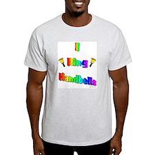 I Ring Handbells Ash Grey T-Shirt