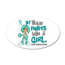 Fights Like a Girl 42.9 Ovarian Cancer Wall Decal