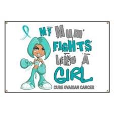 Fights Like a Girl 42.9 Ovarian Cancer Banner