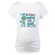 Fights Like a Girl 42.9 Ovarian Cancer Shirt