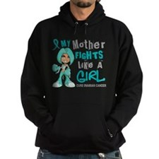 Fights Like a Girl 42.9 Ovarian Cancer Hoodie