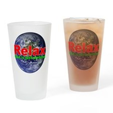 Relax Earth Drinking Glass