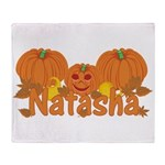 Halloween Pumpkin Natasha Throw Blanket