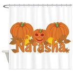 Halloween Pumpkin Natasha Shower Curtain