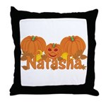 Halloween Pumpkin Natasha Throw Pillow
