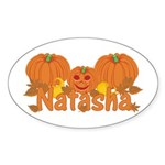 Halloween Pumpkin Natasha Sticker (Oval)