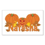 Halloween Pumpkin Natasha Sticker (Rectangle)