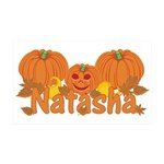 Halloween Pumpkin Natasha 35x21 Wall Decal