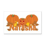 Halloween Pumpkin Natasha Rectangle Car Magnet