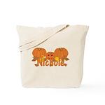 Halloween Pumpkin Nichole Tote Bag