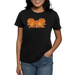 Halloween Pumpkin Nichole Women's Dark T-Shirt