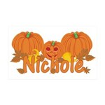 Halloween Pumpkin Nichole 35x21 Wall Decal