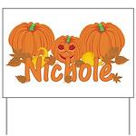 Halloween Pumpkin Nichole Yard Sign