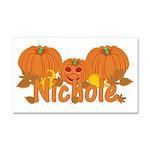 Halloween Pumpkin Nichole Car Magnet 20 x 12