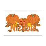 Halloween Pumpkin Nichole Mini Poster Print