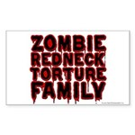 Zombie Redneck Torture Family Blood Sticker