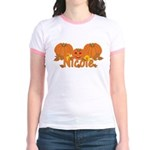 Halloween Pumpkin Nicole Jr. Ringer T-Shirt