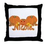 Halloween Pumpkin Nicole Throw Pillow
