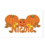 Halloween Pumpkin Nicole Postcards (Package of 8)