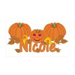 Halloween Pumpkin Nicole 35x21 Wall Decal