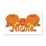 Halloween Pumpkin Nicole Car Magnet 20 x 12