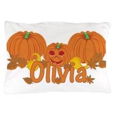 Halloween Pumpkin Olivia Pillow Case