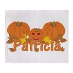 Halloween Pumpkin Patricia Throw Blanket