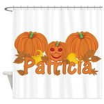 Halloween Pumpkin Patricia Shower Curtain