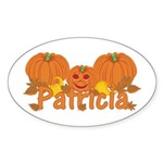 Halloween Pumpkin Patricia Sticker (Oval)
